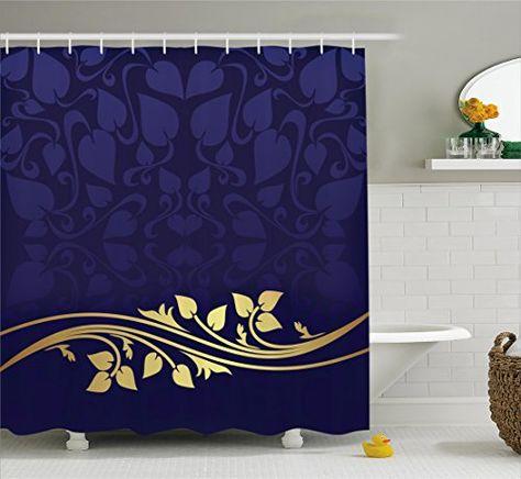 Bathroom Rugs Ideas Navy Blue Decor Shower Curtain By Ambesonne