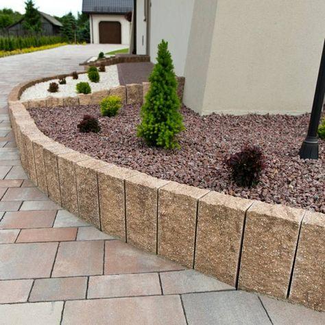 Granit Palisaden - 20 Ideen für schöne Gartengestaltung Garten - steingarten mit granit