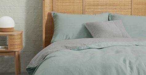 Grey linen duvet cover | linen & bamboo