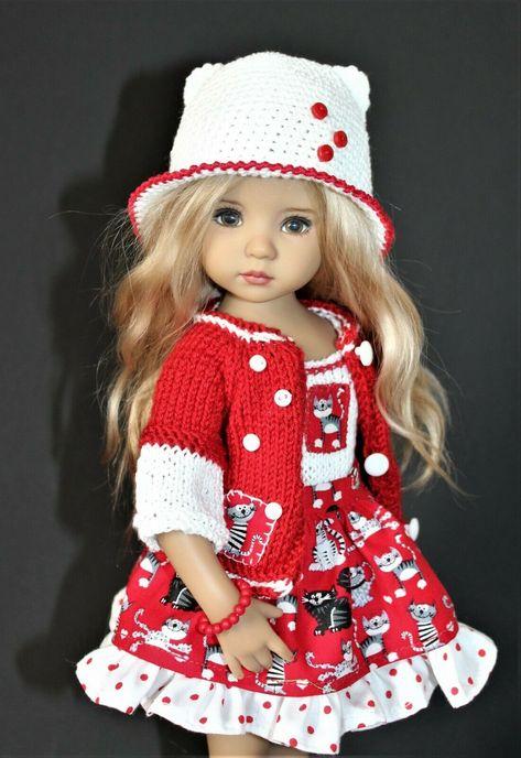 Vintage Tejer patrón para las muñecas ropa 12-18in 4ply Hilo Ver Det D37