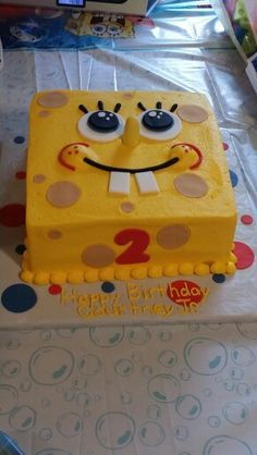 Spongebob Face Cake Lil boy Cake and Birthdays