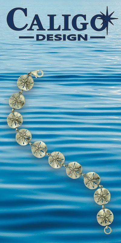 bbaf55564bc Sand Dollar Bracelet - Link - Sterling Silver Sand Dollar Bracelet - Sand  Dollar Jewelry - #sanddollarbracelet #silversanddollarbracelet ...