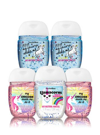 Unicorns Are Real 5 Pack Pocketbac Sanitizer Bath And Body Works