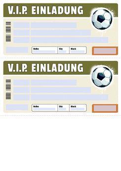 Einladung zum ausdrucken kostenlos fußball Drucke selbst!