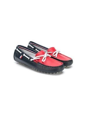 two-tone moccasins   Boys shoes