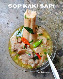 Resep Sop Kaki Sapi By Julieromzi Resep Masakan Resep Masakan Indonesia Masakan