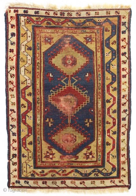 Antique Turkish Makri Rug Single Column Example Nice Spacious Drawing Particularly In The Borders All Natural Colors Wi Rugs Carpet Handmade Rugs On Carpet