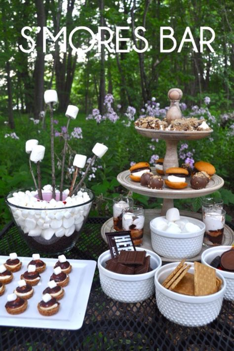 S'more bar- something like this for our first backyard party