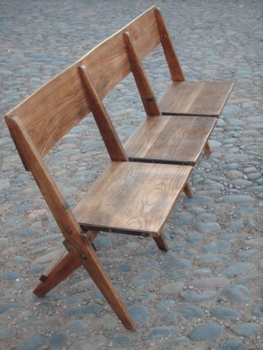 Remarkable Vintage Oak Church Hall Folding Bench Hall And Landing Camellatalisay Diy Chair Ideas Camellatalisaycom