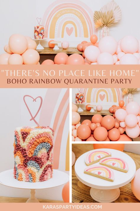 Rainbow First Birthday, First Birthday Party Themes, Wild One Birthday Party, 1st Birthday Cakes, Baby Girl 1st Birthday, Birthday Ideas, Twins 1st Birthdays, Party Ideas, Boho Theme