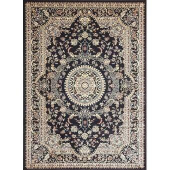 Fanchon Beautiful Hearth Slice Black Indoor Outdoor Area Rug Beige Rug Persian Style Rug Area Rugs