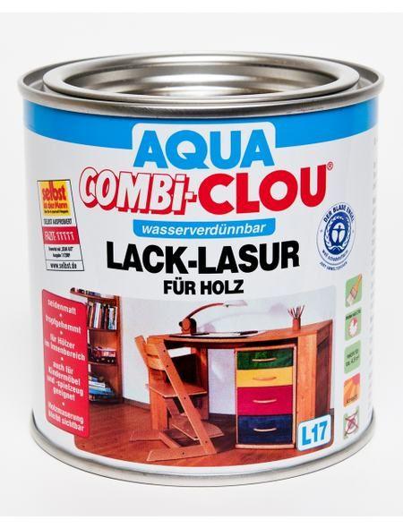 Clou Lack Lasur Combi Clou Weiss 750ml Bau Holz Bauhaus