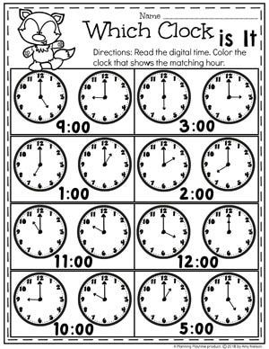 Money Worksheets Planning Playtime Telling Time Worksheets Kindergarten Telling Time Time Worksheets