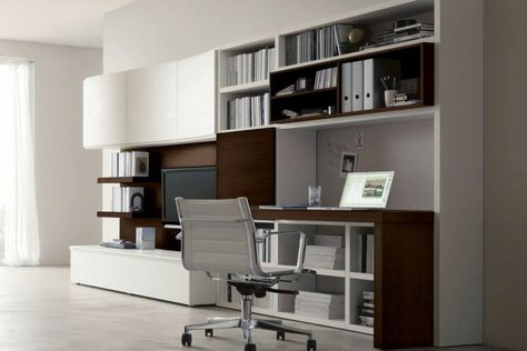 Aménagement de bureau moderne dans un salon design ! salon bureau