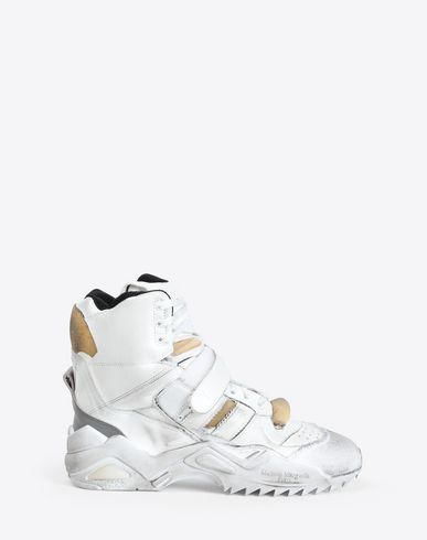 maison margiela sneaker high top white