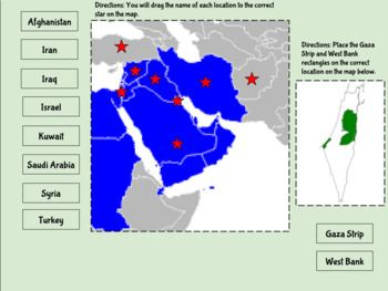 Interactive: SW Asia (Middle East) Physical Features & Countries