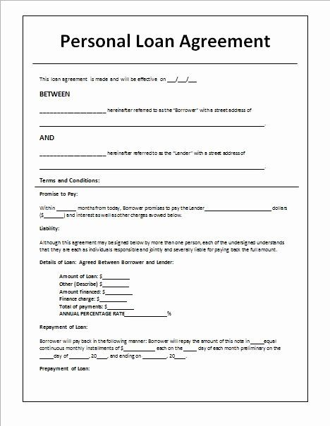 Car Loan Application Form Template Elegant Personal Loan Agreement Template And Sample In 2020 Personal Loans Contract Template Personal Loans Online