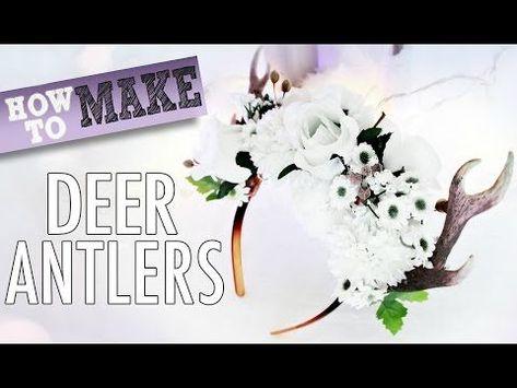 Photo of Deer Antler DIY Halloween Headpiece Costume (Floral Fawn)