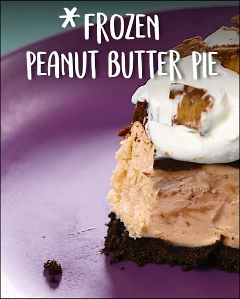 The perfectly nutty, decadent summer treat  , #Frozen #Peanut #Butter #Pie, recipe, #tastyfoodvideos, easy