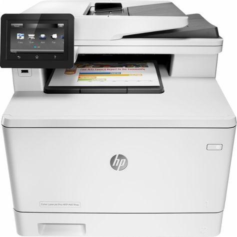 Hp Laserjet Pro Mfp M477fnw Color All In One Printer White Front Zoom Multifunction Printer Cool Things To Buy Printer