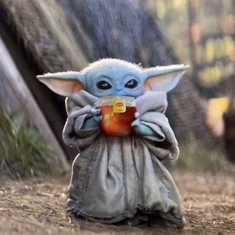 Jimmy Specs Thegoodskywalker On Instagram Minding My Own Business Bosslogic Starwars Themandalorian Liptontea Yoda Funny Funny Memes Yoda Meme