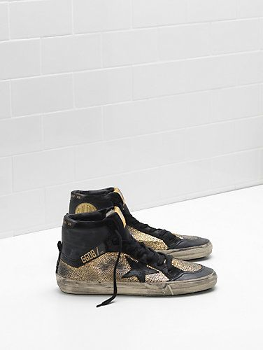 Golden Goose Francy Sneakers In Black Cotton Canvas With