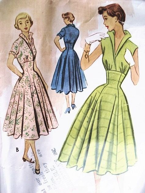 1950s McCALLS 8835 Dress Pattern ROCKABILLY High Waist Fitted Midriff Dress ,Stand Up Wing Collar, Full Skirt  Bust 31 Vintage Sewing Pattern -  Vintage 50s McCalls 8835 Dress Pattern ROCKABILLY High Waist Fitted Midriff Dress ,Stand Up Wing Co - #1950s #bust #Collar #Dress #DressTutorials #Fitted #full #High #McCalls #Midriff #Pattern #QuiltBlockPatterns #QuiltBlocks #ROCKABILLY #Sewing #SewingTechniques #SKIRT #stand #Vintage #VintageSewing #VintageSewingMachines #Waist #Wing