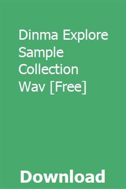 Dinma Explore Sample Collection Wav Free With Images Furnace Buying An Rv Manual