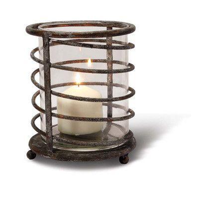Foreside Home & Garden Mountain House Iron Swirl Lantern