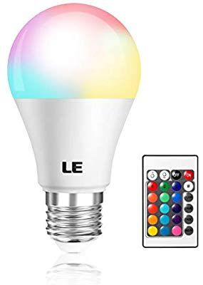 Le Color Changing Light Bulb With Remote Dimmable Led Light Bulbs E26 Screw Base Rgb Soft War In 2020 Color Changing Light Bulb Dimmable Led Color Changing Lights