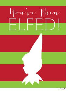 picture regarding You Ve Been Elfed Printable named Pinterest Пинтерест