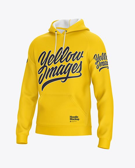 Download Hoodie Mockup Half Side View In Apparel Mockups On Yellow Images Object Mockups In 2021 Hoodie Mockup Clothing Mockup Shirt Mockup