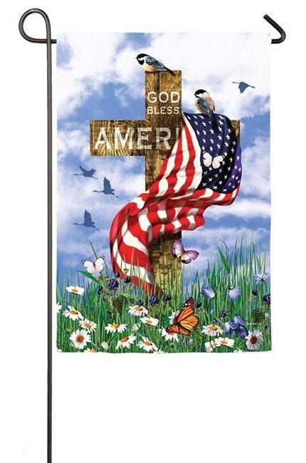 The Patriots Garden Flag 2 Sided Patriotic Garden Flags Flag God Bless America