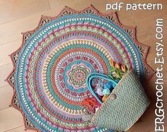 Crochet Pattern Jimmy The Hybrid Car Rug Pdf Crochet Pattern Etsy Crochet Rug Patterns Boho Rug Rug Pattern