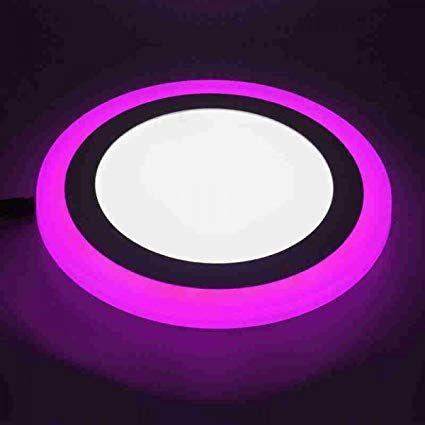 Buy Galaxy 12 Watt Led Round Panel Light 6 3 Ceiling Pop Down Indoor Light Led 3d Effect Lighting Double Color Pink Whi Indoor Lighting Led Lights Paneling