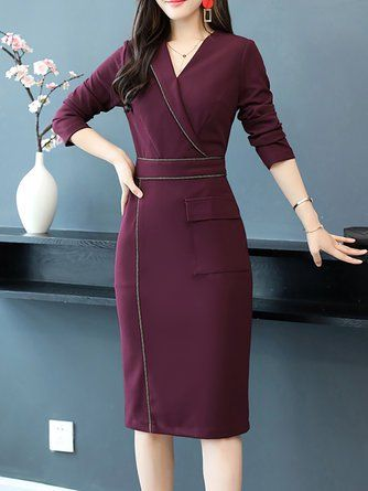 Work Dresses Shop Affordable Designer Work Dresses For Women Online Stylewe Long Sleeve Sheath Dress Long Sleeve Dress Formal Designer Work Dresses