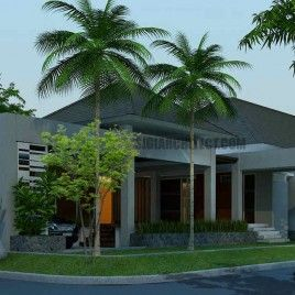 desain rumah 2 lantai modern klasik dengan kolam renang