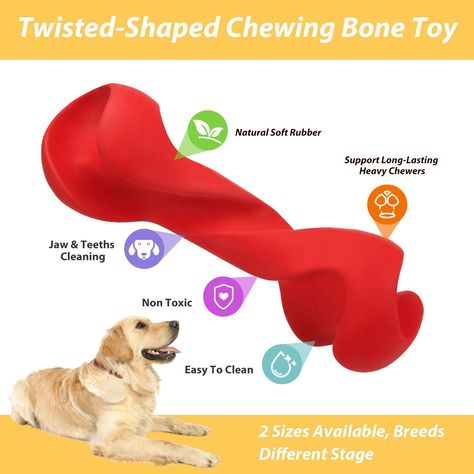 Yuejing Dog Chew Toy For Aggressive Chewers Durable Dog Toys Tough Rubber Chew Toys Be Sure To Check Out This Awesom Dog Chew Toys Durable Dog Toys Chew Toy