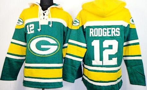 ffa4b218a Aaron Rodgers Green Sawyer Hooded Sweatshirt NFL Hoodie