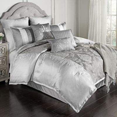 Bed Bath Beyond Kolina 14 Piece Queen Comforter Set In Grey Ad