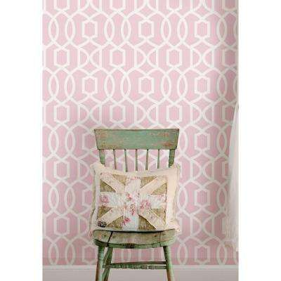 Pink Grand Trellis Peel And Stick Wallpaper Peel And Stick Wallpaper Nuwallpaper Blue Wallpapers