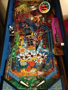 Rocky and Bullwinkle Pinball Machine Playfield with Mods