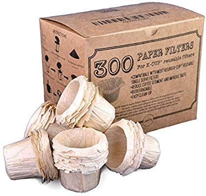 Amazon Com Canfly Unbleached Disposable K Cup Paper Filters For Keurig Single Cup Coffer Filters Compatible With Ekobrew E Reusable K Cup K Cup Filter K Cups