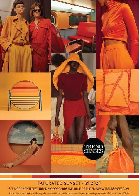 Summer Fashion 2018 : MOODBOARD - SATURATED SUNSET - SPRING /SUMMER 2020 #Trends   FashioViral.net - Leading Lifesyle & Fashion Magazine