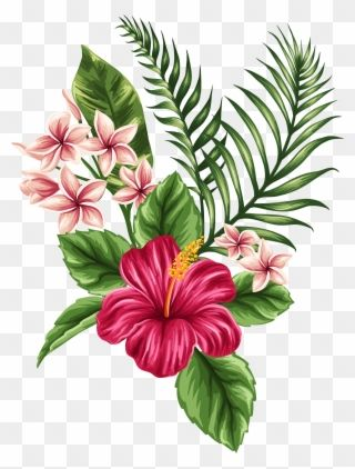 Svg Transparent Tropical Watercolor Flowers Leaves Tropical Flower Tattoo Clipart Flower Drawing Tropical Flower Tattoos Flower Bouquet Drawing