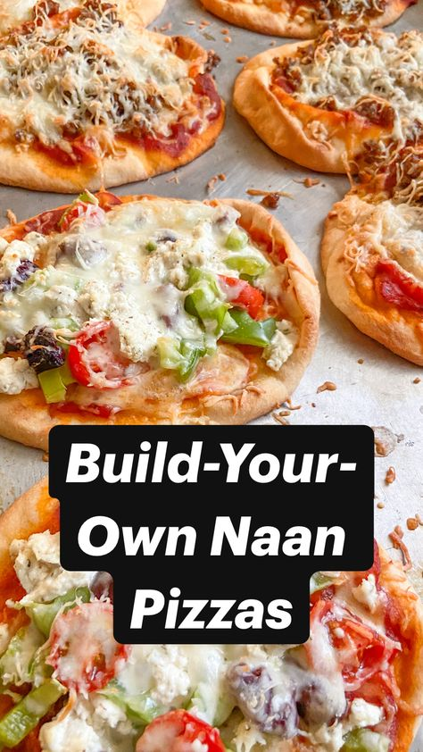 Build-Your-Own Naan Pizzas
