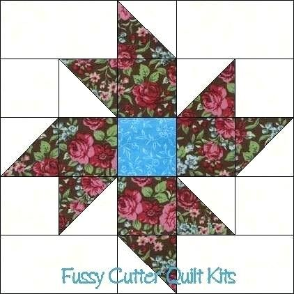 Image Result For 12 1 2 Inch Star Quilt Block Pattern Star Quilt Blocks Quilts Flower Quilt