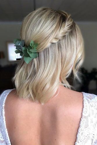 33 Stylish Wedding Hairstyles With Hair Down Wedding Forward Wedding Hair Down Down Hairstyles Braids For Short Hair