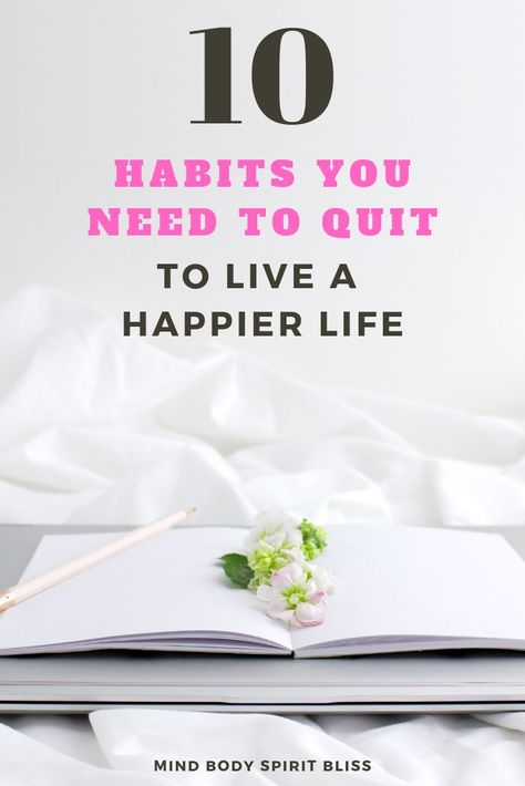 Here are 10 bad habits that you need to get rid of if you want to learn how to be happy in life. This habits teach you how to change your life, be happy, and improve your mental health by making changes to be more positive, motivated, inspired to achieve your goals, and succeed in life.#howtobehappy #motivation #inspiration #mentalhealth #mbsb
