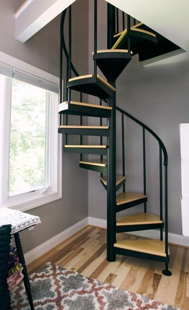 Designing Stairs For The Attic Attic Stairs Spiral Staircases For   Spiral Staircase For Loft Conversion   Loft Room   Stairwell Low   Narrow   Tight Space   Step By Step
